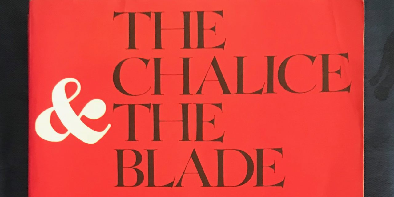 A Woman Writing Herstory: The Chalice and the Blade by Riane Eisler (First published in N.Y. 1987)